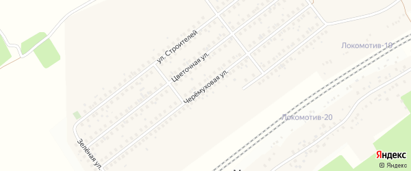 Черемуховая улица на карте села Жуково с номерами домов