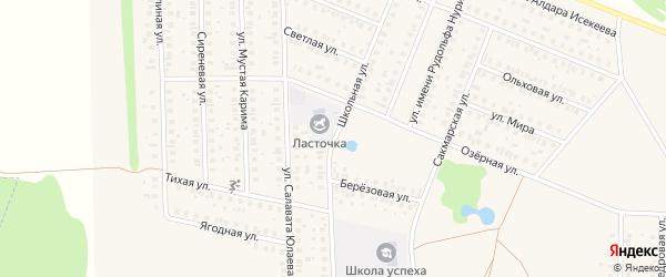 Школьная улица на карте села Жуково с номерами домов