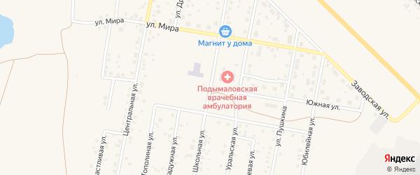 Школьная улица на карте деревни Подымалово с номерами домов
