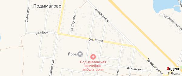 Улица Мира на карте деревни Подымалово с номерами домов