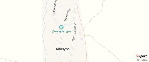 Центральная улица на карте деревни Канчуры с номерами домов