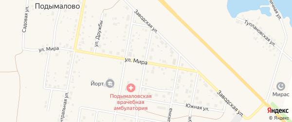 Уральская улица на карте деревни Подымалово с номерами домов