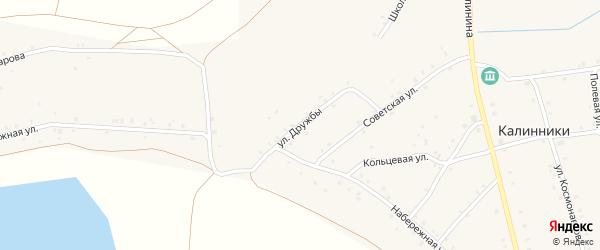 Улица Дружбы на карте села Калинники с номерами домов