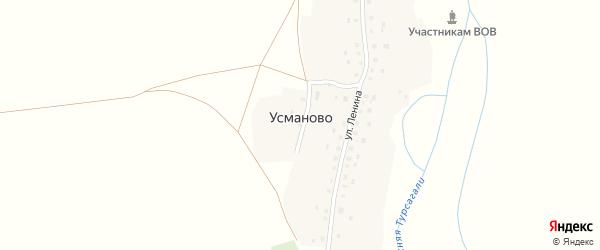 Камышлинская улица на карте деревни Усманово с номерами домов