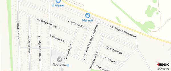 Улица Рудольфа Нуриева на карте села Жуково с номерами домов