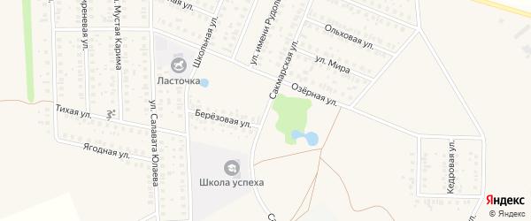 Сакмарская улица на карте села Жуково с номерами домов