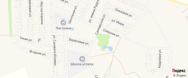 Сакмарская улица на карте Уфы с номерами домов