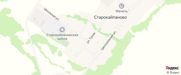 Молодежная улица на карте села Старокайпаново с номерами домов