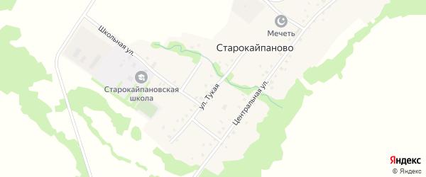 Тукая улица на карте села Старокайпаново с номерами домов