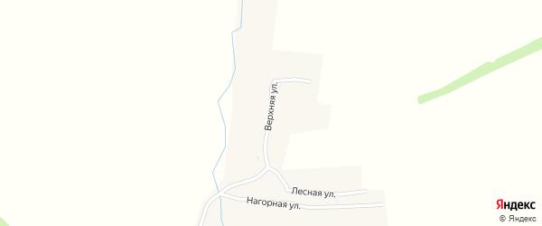 Верхняя улица на карте села Десяткино с номерами домов