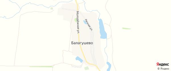 Карта села Балагушево в Башкортостане с улицами и номерами домов