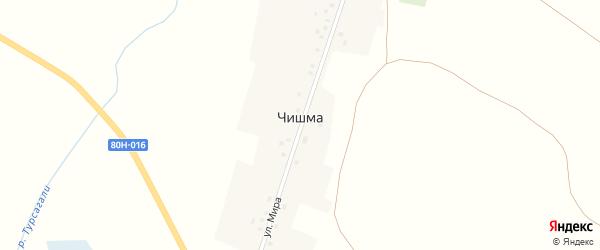 Майская улица на карте деревни Чишмы с номерами домов