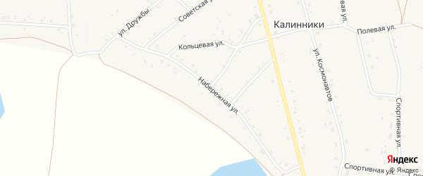 Набережная улица на карте села Калинники с номерами домов