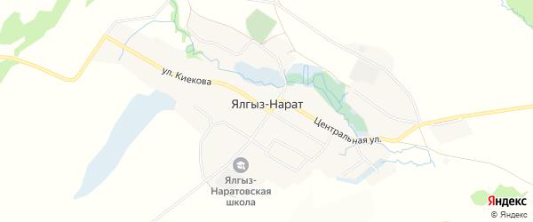 Карта села Ялгыза-Нарата в Башкортостане с улицами и номерами домов