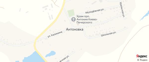 Улица Калинина на карте деревни Антоновки с номерами домов