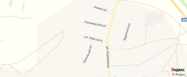 Улица Невского на карте села Калинники с номерами домов