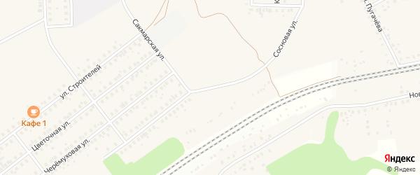 Сосновая улица на карте села Жуково с номерами домов