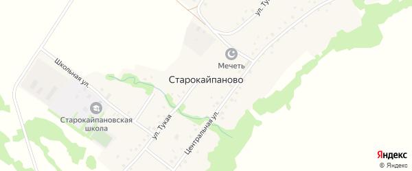 Школьная улица на карте села Старокайпаново с номерами домов