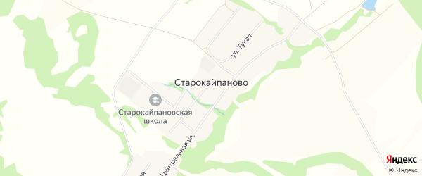 Карта села Старокайпаново в Башкортостане с улицами и номерами домов