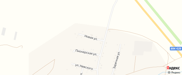 Новая улица на карте села Калинники с номерами домов