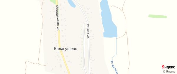 Речная улица на карте села Балагушево с номерами домов