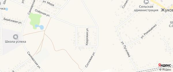 Кедровая улица на карте села Жуково с номерами домов