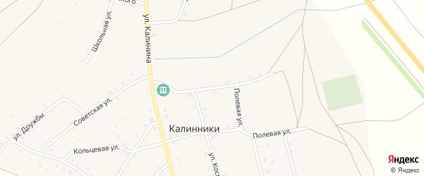 Клубная улица на карте села Калинники с номерами домов
