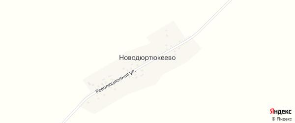 Революционная улица на карте деревни Новодюртюкеево с номерами домов