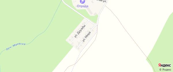 Улица Мира на карте деревни Ягодной Поляны с номерами домов