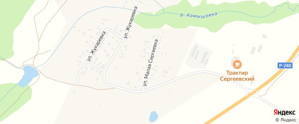 Улица М.Сергеевка на карте деревни Сергеевки с номерами домов