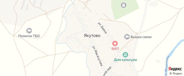 Улица Масягутова на карте села Якутово с номерами домов