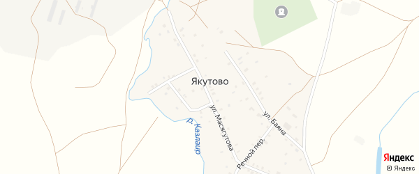 Речной переулок на карте села Якутово с номерами домов