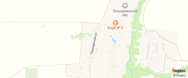 Пионерская улица на карте села Арибашево с номерами домов