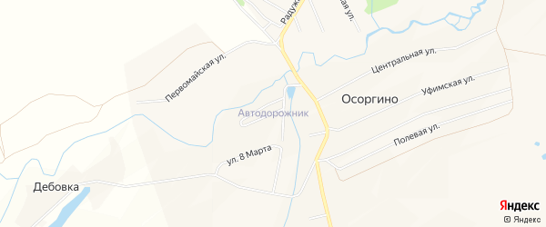 СНТ Автодорожник на карте Уфимского района с номерами домов