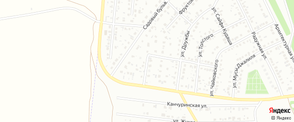 Малиновая улица на карте Кумертау с номерами домов