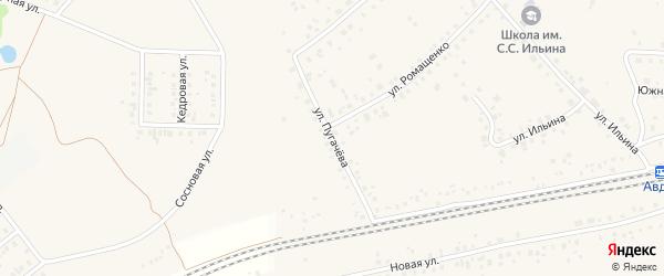 Улица Пугачева на карте села Жуково с номерами домов