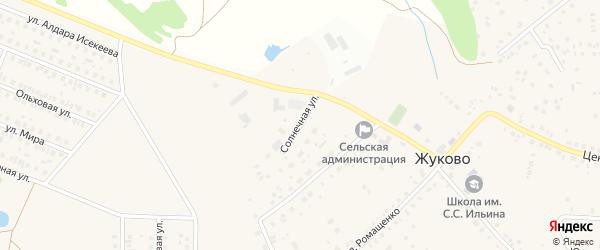Солнечная улица на карте села Юматовского сельхозтехникумы с номерами домов