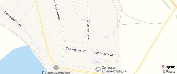 Спортивная улица на карте села Калинники с номерами домов
