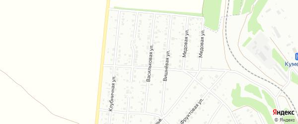 Васильковая улица на карте Кумертау с номерами домов