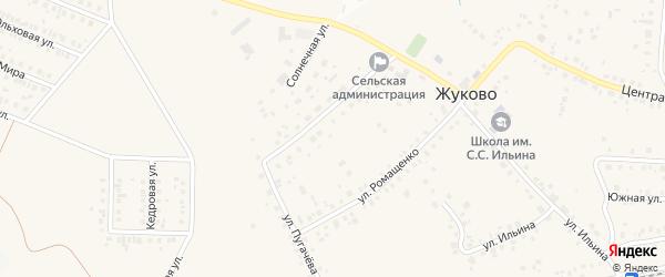 Улица С.Ильина на карте села Жуково с номерами домов