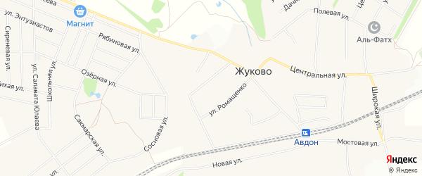СНТ Ромашка на карте села Жуково с номерами домов