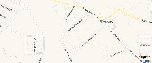Улица Победа на карте села Жуково с номерами домов