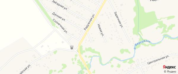 Луговая улица на карте деревни Осоргино с номерами домов