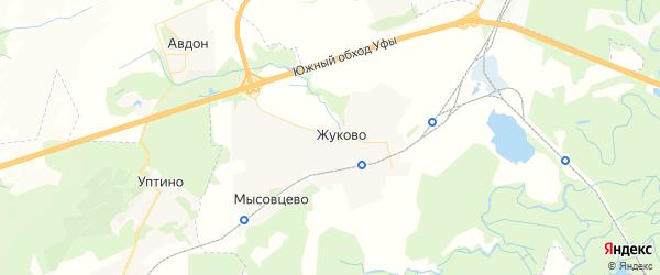 Карта Дмитриевского сельсовета республики Башкортостан с районами, улицами и номерами домов