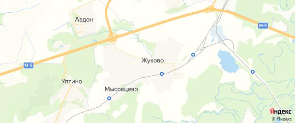 Карта Жуковского сельсовета республики Башкортостан с районами, улицами и номерами домов