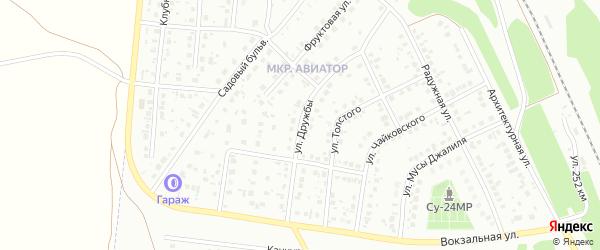 Улица Дружбы на карте Кумертау с номерами домов