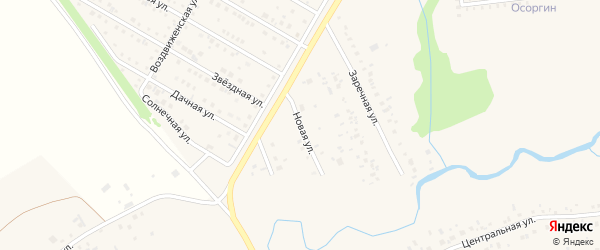 Новая улица на карте деревни Осоргино с номерами домов