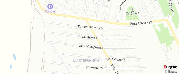 Улица Жукова на карте Кумертау с номерами домов
