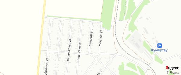 Медовая улица на карте Кумертау с номерами домов