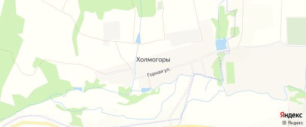 Карта деревни Холмогор в Башкортостане с улицами и номерами домов